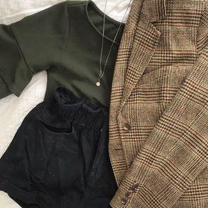 L.L. Bean plaid wool blazer